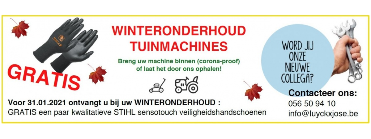 winteronderhoud tuinmachines